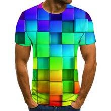 2020 camiseta xadrez impressa em 3d camiseta masculina casual de verão diversão de rua camiseta masculina camiseta masculina e f