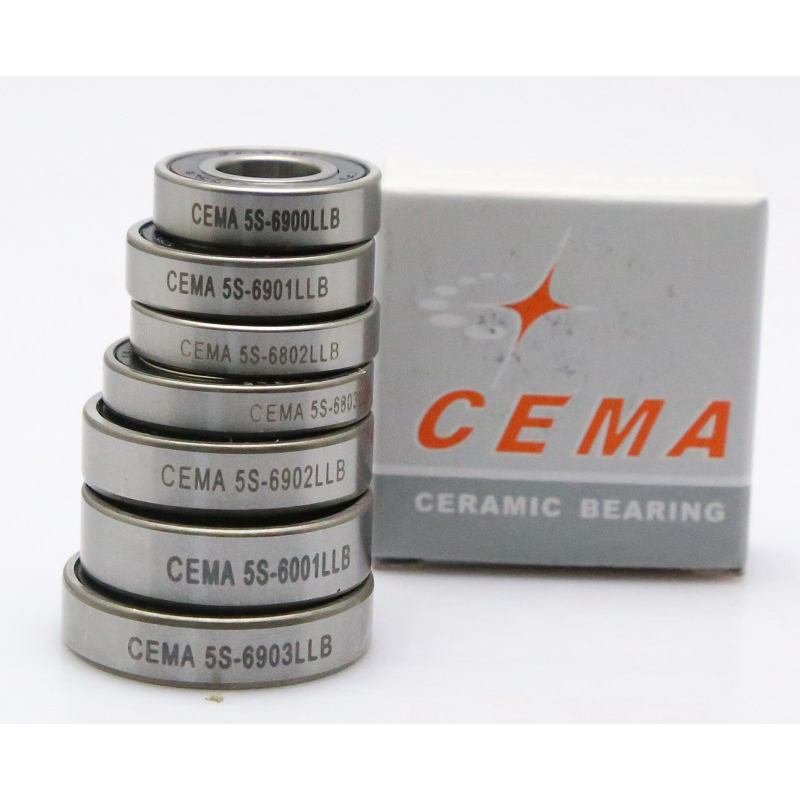 Cema Hybrid Ceramic Bicycle Bearings Cycling Bracket  Bottom Hub Bearing 6001/6801/6802/6803/6900/6901/6902/6903