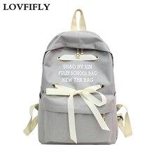 Womens Backpack Bow Ribbon Trend Waterproof Back Pack High Quality Teenagers Sweet Lady Student School Bagpack Female Travel bag