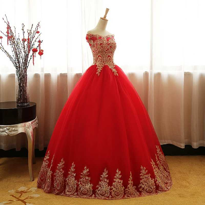 8 طبقات أزرق أحمر أبيض ذهبي دانتيل مطرز فستان Quinceanera جديد متألق تول طول الأرض بدون الكتف 16 فستان حفلة