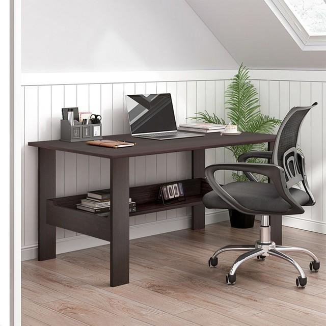 "40"" Computer Desk with Bookshelf 4"
