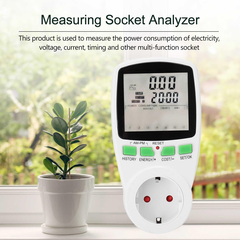 Diagramme de coût de l'électricité compteur Watt moniteur compteurs de courant alternatif wattmètre numérique prise de mesure d'énergie analyseur compteur de puissance