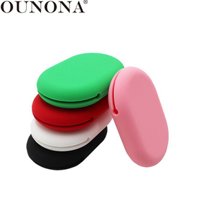 OUNONA Earbud Storage Case Portable Silicone Earphone Storage Bag Flash Drive Earbud Cables Organizer Box Easy Carrying Pouch