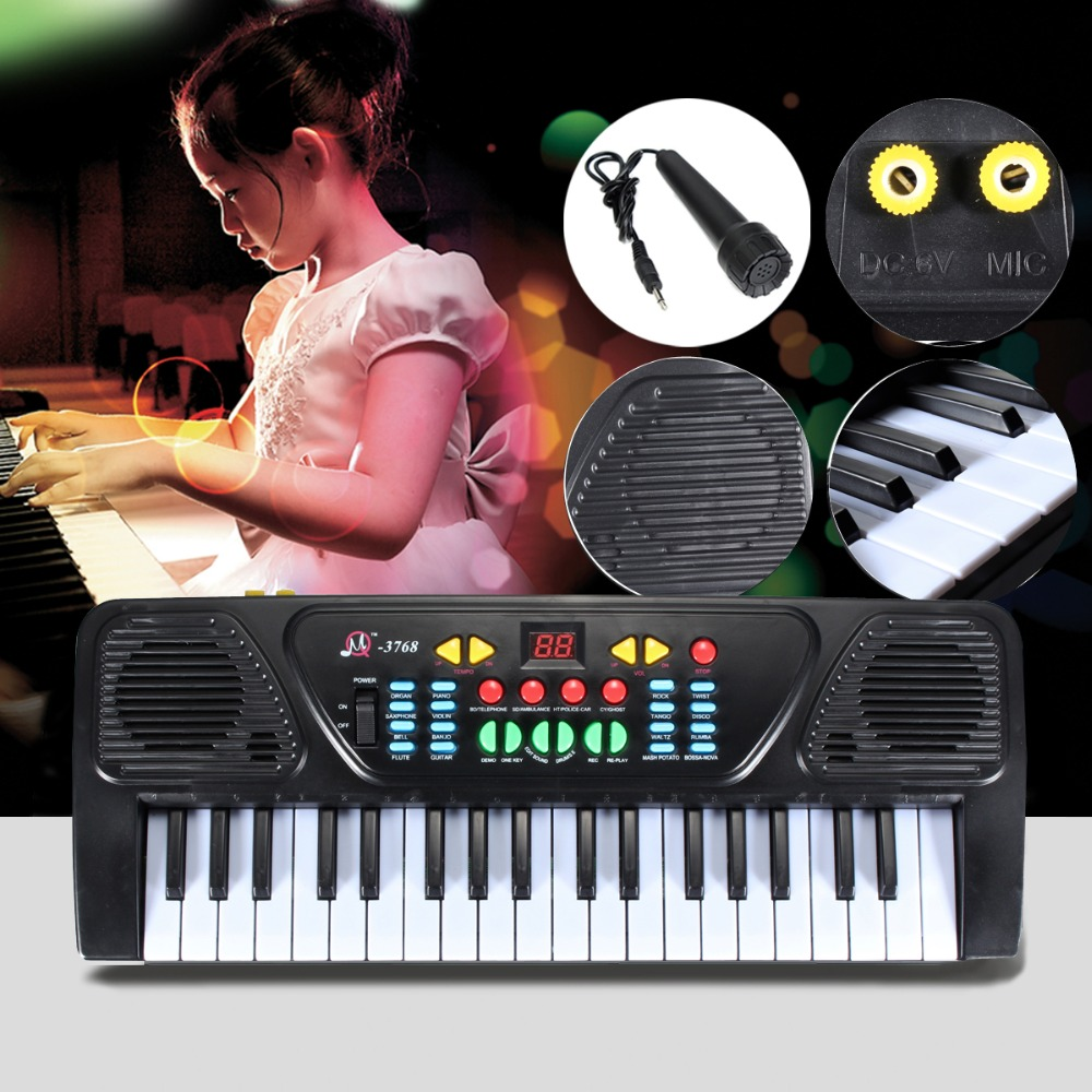 37 Keys Organ Electric Piano 425 X160 X 50MM Digital Music Electronic Keyboard Musical Instrument Learn Educational Toy