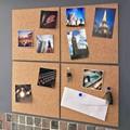 1PCS hexagonal square circular laminated eco-friendly natural cork board can be pasted creative DIY message board photo wall
