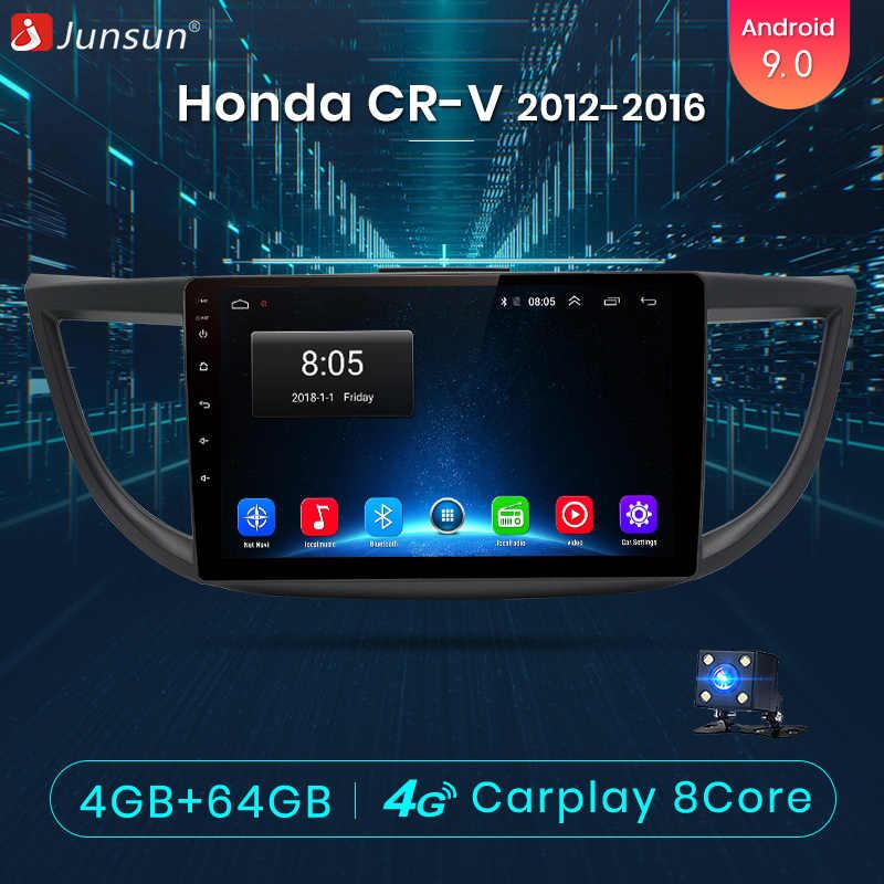 Junsun V1 pro 4G + 64G CarPlay Android 9,0 DSP для Honda CRV 2012 2013-2016 автомобильный Радио мультимедийный видео плеер gps RDS 2 din dvd