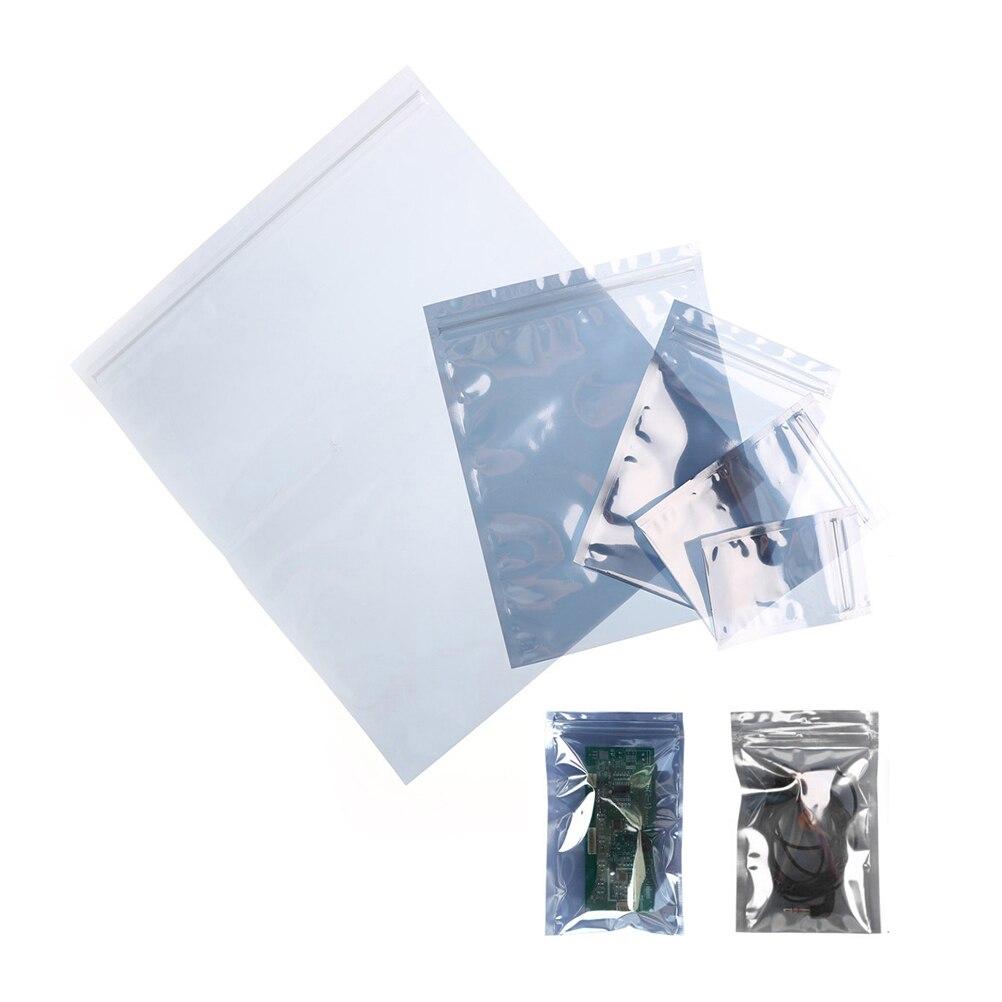 10pcs Antistatic Package Bag Zip Lock Zipper Pack Storage Bags For Hard Drives Mainboard Anti-Static Shielding Bags