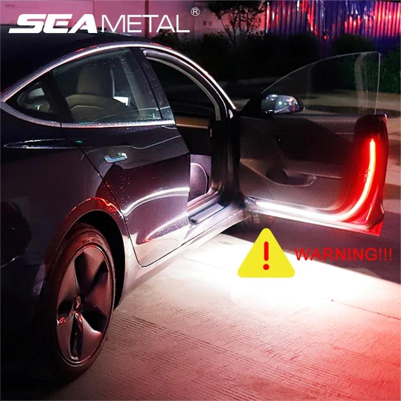 Gelentea Car Door Streamer Warning Light Anti-collision LED Door Side Light Strobe Door Warning Light for Any Car//SUV//Truck