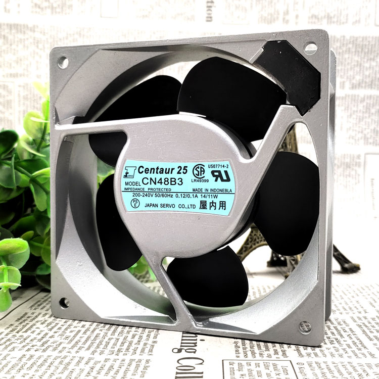 CN48B3 12038 12CM <font><b>200</b></font> ~ 240V 18/15W Exchange Silver Color Box Cooling <font><b>Fan</b></font> image