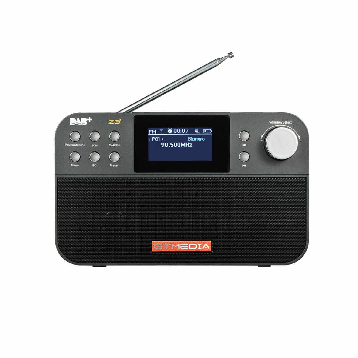 DAB + DAB FM ラジオデジタルポータブルラジオ FM ステレオ RDS フルバンド液晶 TFT アラームクロックラジオエルダーギフトアップグレード版 Z3