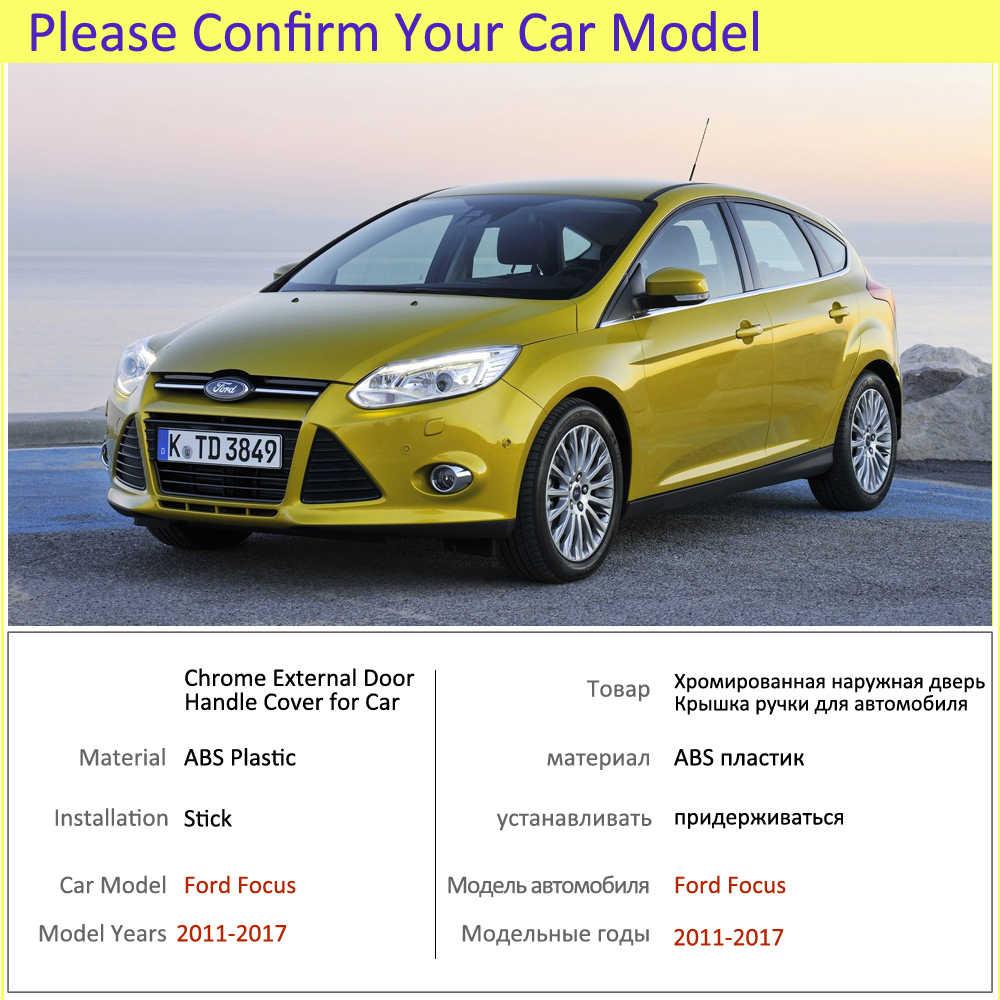 Sang Trọng Chrome Tay Cầm Bao Da Viền Bộ Cho Xe Ford Focus 3 MK3 MK3.5 2011 2012 2013 2014 2015 2016 2017 Phụ Kiện xe Ô Tô
