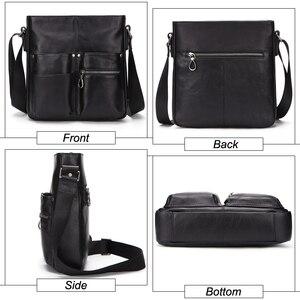 Image 4 - MISFITS 2020 nuovo cuoio genuino degli uomini borsa uomo borsa a tracolla di modo di affari della cartella crossbody bolsos borsa hombre maschio borse a tracolla