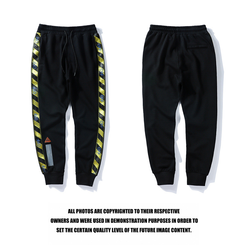 Europe And America Popular Brand Off White Prohibited Inside Webbing Men And Women Trousers