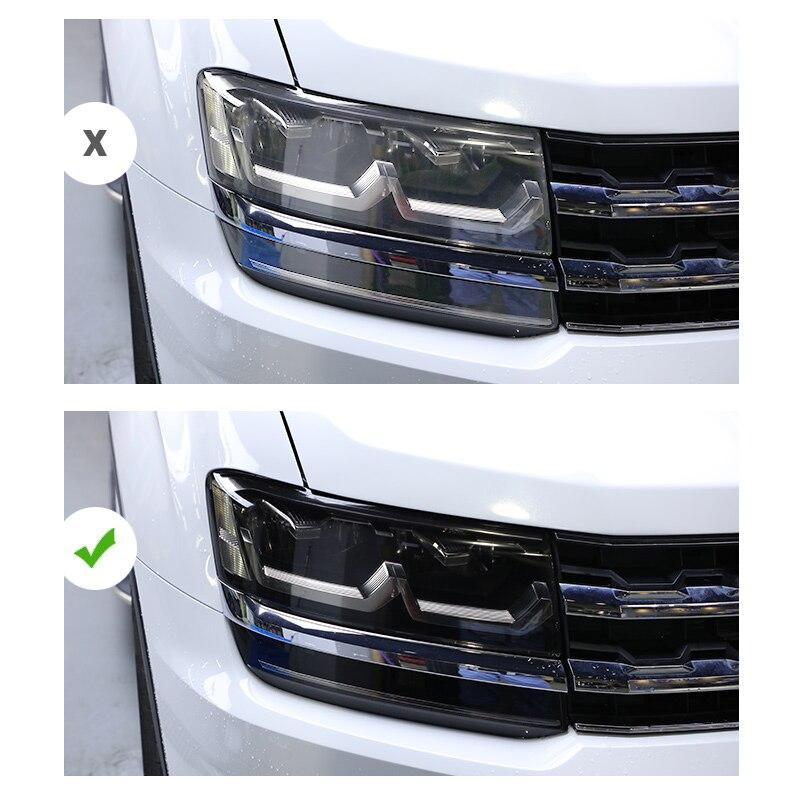 Lsrtw2017 TPU Transparent Black Car Headlight Protective Film for Volkswagen atlas Teramont 2017 2018 2019 2020 anti-scratch
