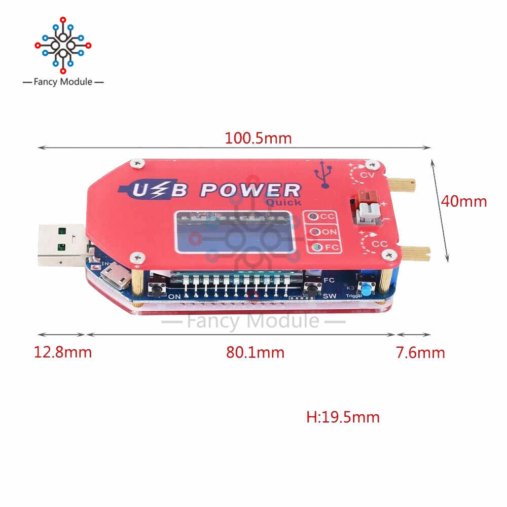 QC3.0 QC2.0 15W Regolabile DC-DC CC CV USB 5V per 3.3V 9V 12V 24V step Up/Imbottiture Power Supply Boost Buck Converter Module con il Caso