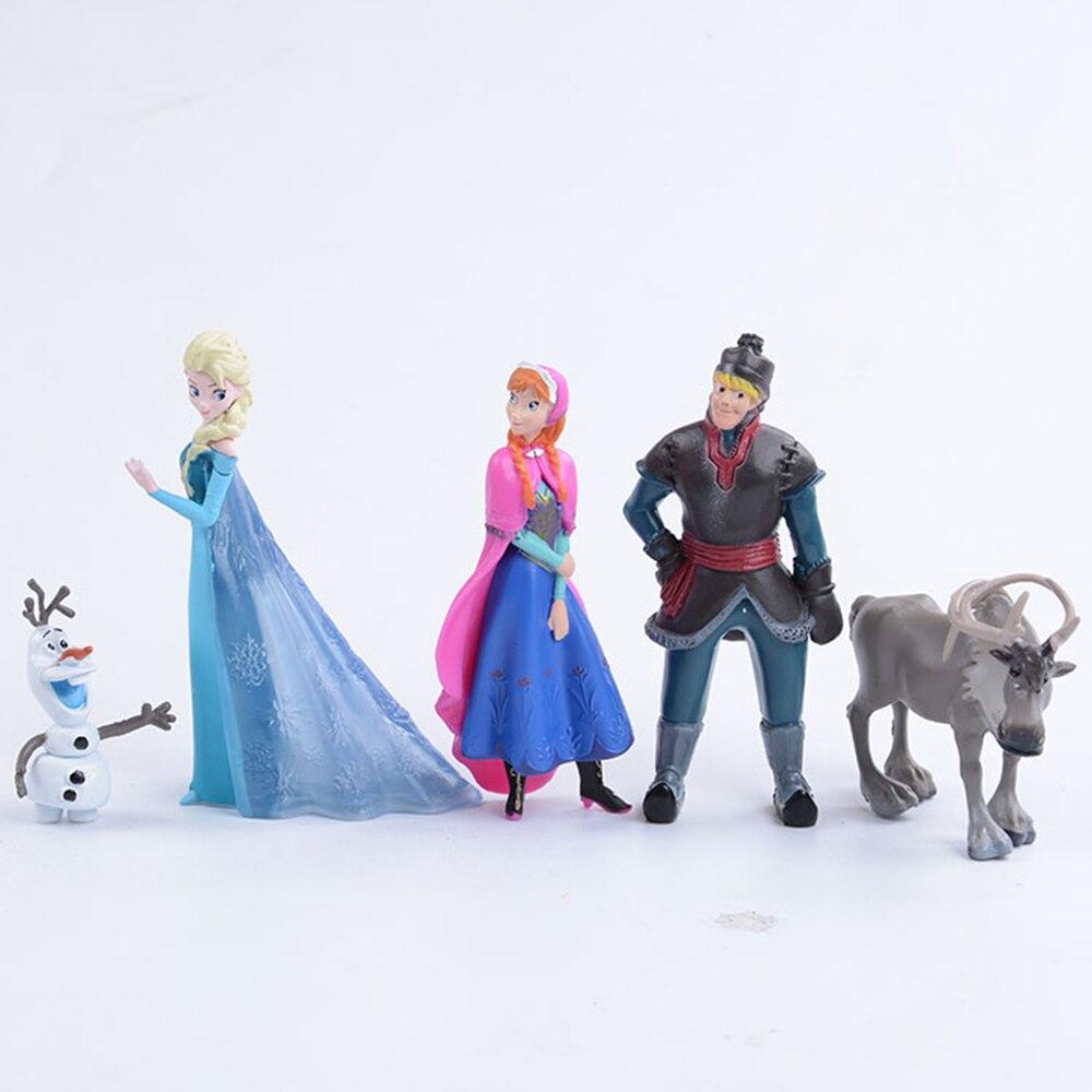 Фигурки Диснея, принцесса, 10 см, аниме, ПВХ, экшн-фигурки Кристофа, Свена Олафа, Замороженные Игрушки на день рождения для детей, рождественск...