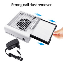 60W Nail Dust Vacuum Cleaner 45000rpm Nail Fan Art Salon Suction Dust Collector Machine 2 Dust Collecting Bags Vacuum Suction large nail art dust suction collector nails duster vacuum cleaner machine with glazing drill tool kit