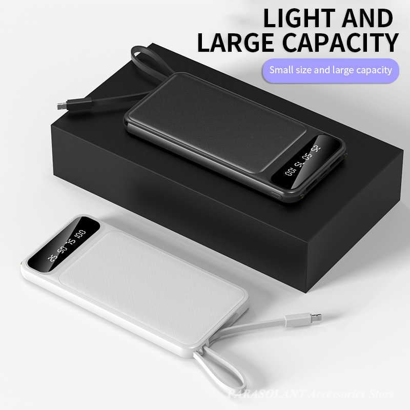 Portable 10000mAh Charging Power Bank For Xiaomi iPhone Samsung Mobile Phone 5