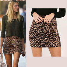 Mini Skirt Pencil Bodycon-Pack Leopard-Printing High-Waist Women Newest for Beach-Cover