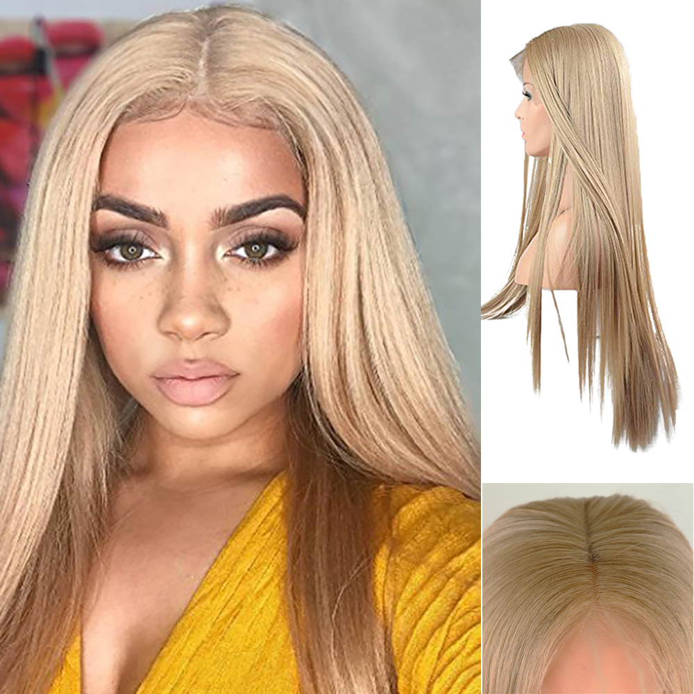 DOROSY HAIR 13*6 Inch Lace Long Wigs For Women Synthetic Lace Front Wig  Straight Real Natural Available