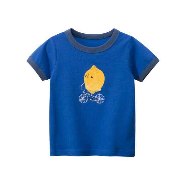 2-8Y Cartoon Print Baby Jongens T-shirt Voor Zomer Baby Kids Jongens Meisjes Leeuw T-shirts Kleding Katoen Peuter Brief Tops