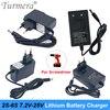 Chargeur de batterie 8.4V 12.6V 16.8V 21V 25V 1A 2A 1.3A 18650 cc 5.5MM * 2.1MM pour 2S 3S 4s 5s 6S Pack de batterie pour batterie de tournevis