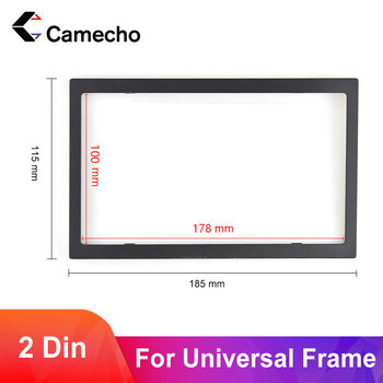 Camecho 2din Frame for car multimedia player double din auto accessories for 7'' inch car radio MP5 Installation accessory 100mm image