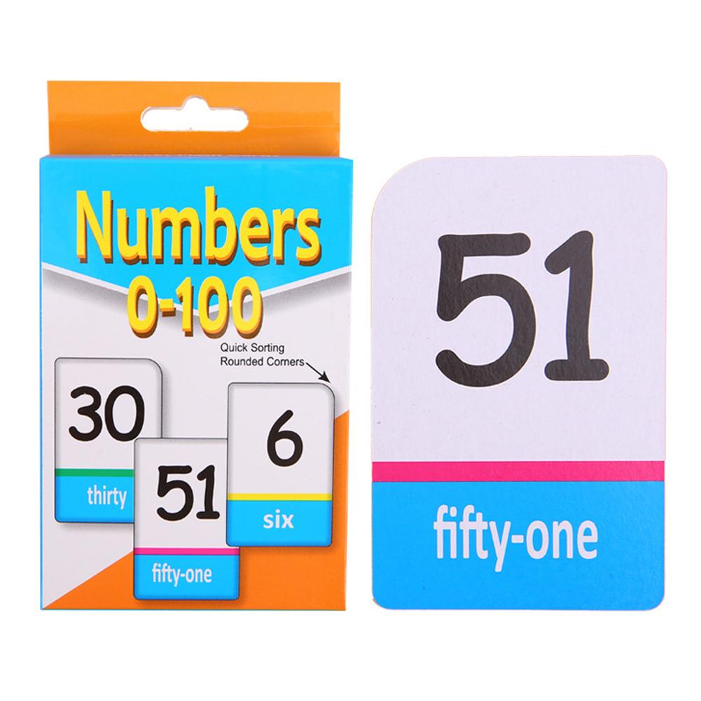 Children English Alphabet Arabic Numbers Learning Flash Paper Card Education Toy