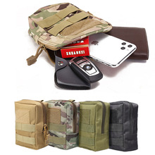 Outdoor Military Tactical Bag EDC Molle Tool Zipper Waist Accessories Pack Durable Belt Comouflage Pouch Hunting Airsoft Bags