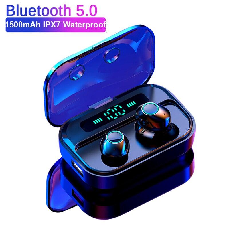 M7 tws bluetooth v5.0 fone de ouvido estéreo sem fio fones mini alta fidelidade som esporte handsfree gaming headset com microfone