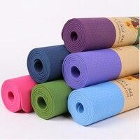 6mm Thick TPE Yoga Momen Men Foldable Printed Pilates Dance Fitness Mat Anti slip Sport Workout Gymnastic Exercise Mat