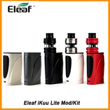 Wielka wyprzedaż oryginalny Eleaf iKuu Lite Box Mod ze zbiornikiem Ello S 22 W wbudowana bateria 2200 mAh VS ikuu i200 iKuu i80 Eleaf Mod E-Cig tanie tanio Innych Rohs CN (pochodzenie) Kształt skrzynki Metal Eleaf Ikuu Lite Mod Ello S Tank Wbudowany