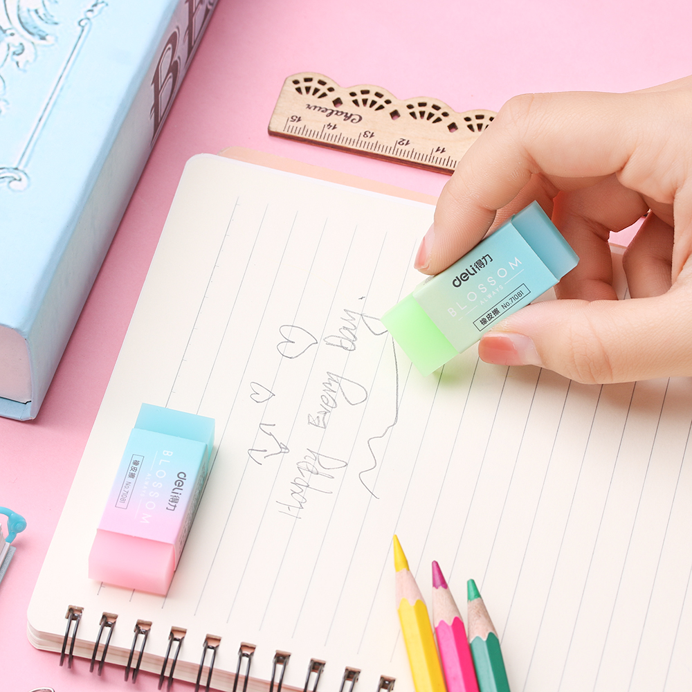 1 PC Flexible Soft Eraser Colored Rubber Erasers Professional Students Stationery School Office Durable Student Supplies