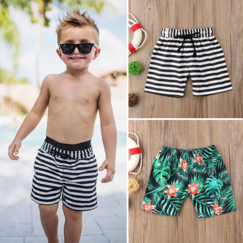 1-6T New Fashion Toddler Kids Baby Boy Clothes Floral Green Leaf Printed Shorts Beach Pants Casual Trunks