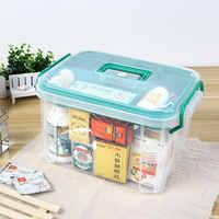 Caixa de primeiros socorros multi-em camadas casa kit medicina plástica médica saudável grande caixa transparente