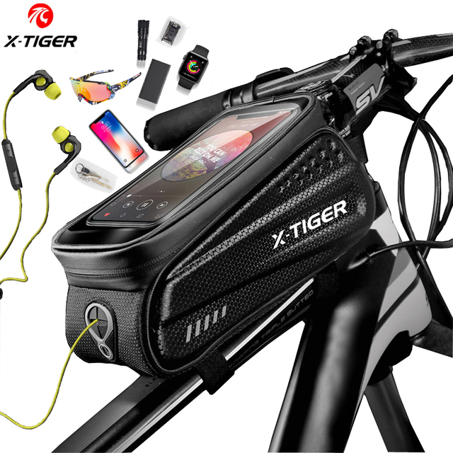 X TIGER torba na rower rama przednia górna rura torba na rower odblaskowa 6.5in etui na telefon ekran dotykowy akcesoria do toreb wodoodporna torba na rower torba na rower