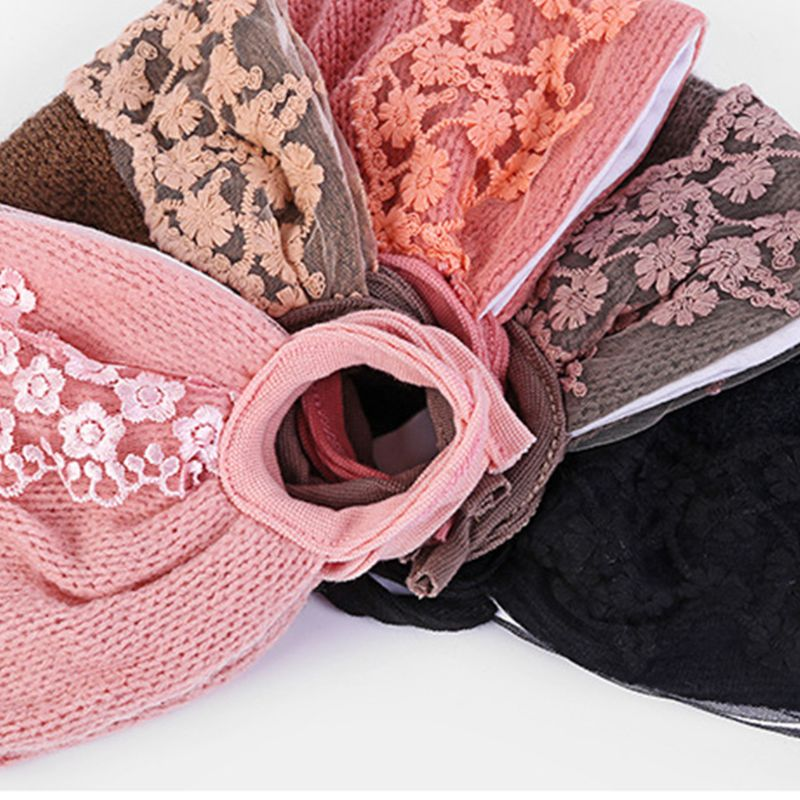 Women Girl Winter Thicken Warm Mouth Mask Floral Lace Anti Dust PM2.5 Respirator NEW
