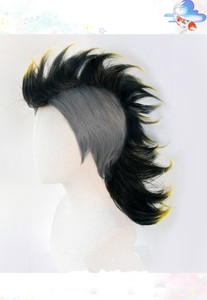 Image 3 - Anime Demon Slayer Kimetsu nie Yaiba Shinazugawa Sanemi peruka do Cosplay Halloween włosy + darmowa peruka Cap