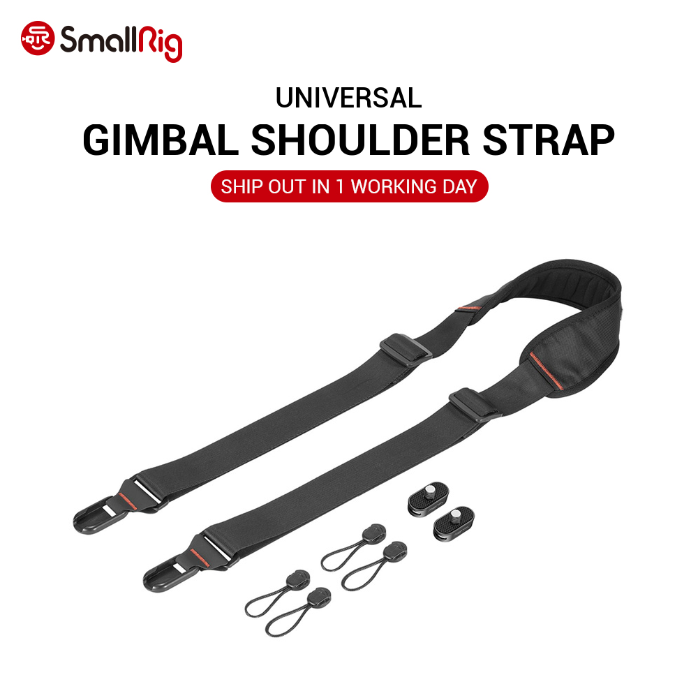 SmallRig DSLR Camera Strap Gimbal Shoulder Strap W  Rapid link Connectors Neck Shoulder Black Belt Flexible 2466