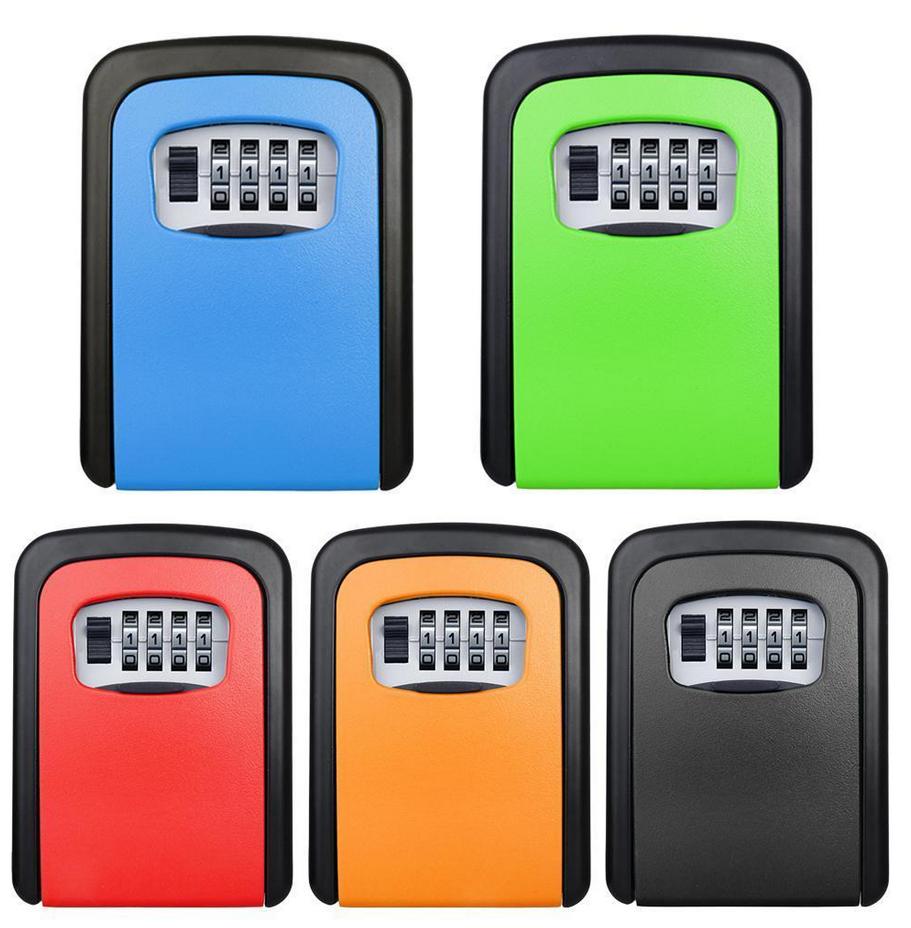 Key Storage Lock Box 4-Digit Combination Lock Box, Wall Mounted Lock Box, Resettable Code Hide Key Lock Box