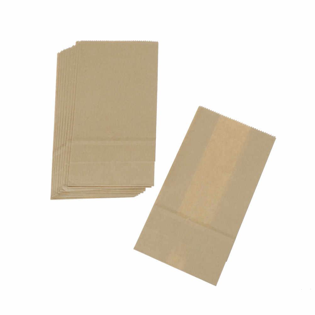 10 Uds. Bolsas de regalo de papel Kraft marrón embalaje de dulces de boda reciclable joyería alimentos pan compras bolsas de fiesta para Boutique