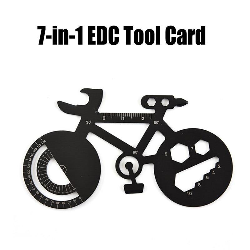 Funny Bicycle Shape Wrench Multi Tool Multi-purpose Mountain Bike Repair Spoke Wrench Tool Portable Outdoor Camping Edc Tool