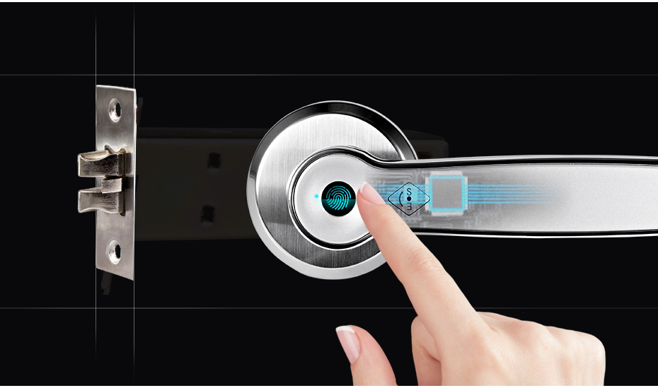 Hc286535ced594c0c970997837d64ac02e Golden Security Left Right Handle Smart Unlock 360 Degree Fingerprint Door Lock Home Security Anti-theft Access control system