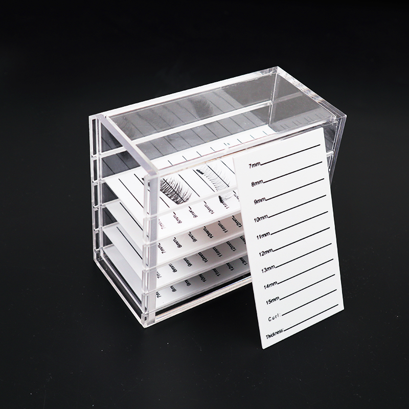 5 Layers Eyelashes Storage Box Makeup Organizer Acrylic Pallet Lash Holder Individual Lash Volume Display Stand Makeup Tools