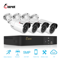 Keeper CCTV 4CH 1944P AHD Camera Kit P2P HDMI H.264 DVR Video Surveillance System Waterproof Outdoor Security 5MP Camera Kit
