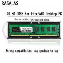 Rasalas 8Gb 4Gb Oперативная Nамять DDR3 1600Mhz 1333Mhz PC3-10600U 1,5 V 1.35V Dimm Desktop Pc ram 240Pin Geheugen Voor Inter/Amd