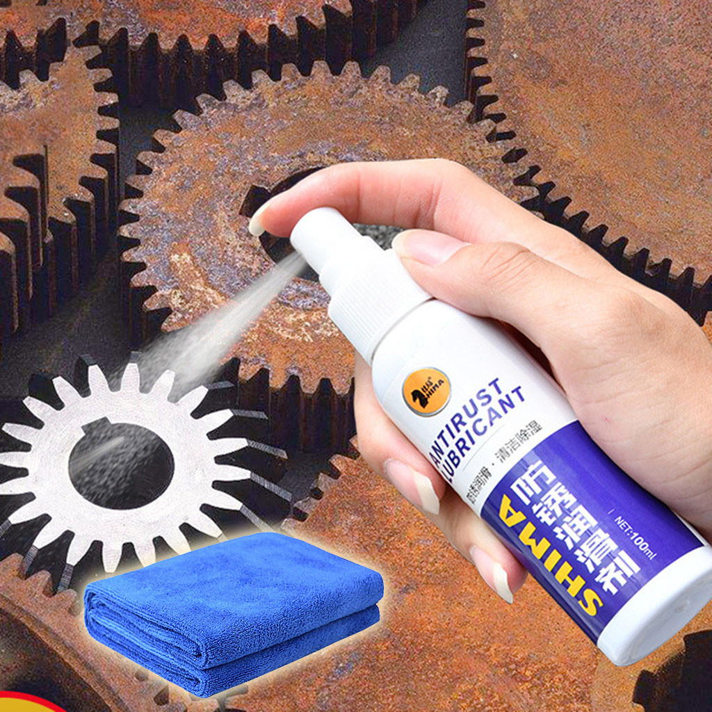 Rust Stain Remover Metal Surface Chrome Paint Car Maintenance Iron Powder Cleaning Multipurpose Rust Remover Spray Clean Up