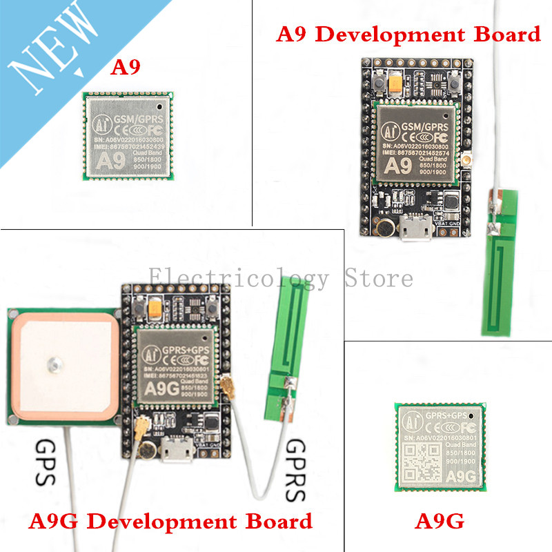 GPRS GPS Module A9 A9G Module Development Board Wireless Data Transmission Position IOT With Antenna GSM Ai Thinker For Arduino