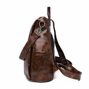 Image 2 - 2019 kadın deri sırt çantaları tiki tarzı kadın Mochila kese Dos kadınlar seyahat sırt çantası bağbozumu geri paketi kadın sırt çantası yeni