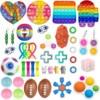 Fidget Toys Pack Toy Square Antistress New Push Bubble Rainbow Poptoy Hands Popins Squishy Pops Sensory Autism Adhd Depression